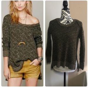 Free People: jeepster honeycomb sweater ✨SZ:XS